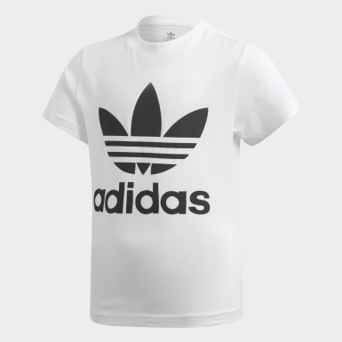 Boys Originals White Trefoil Shorts Tee Set