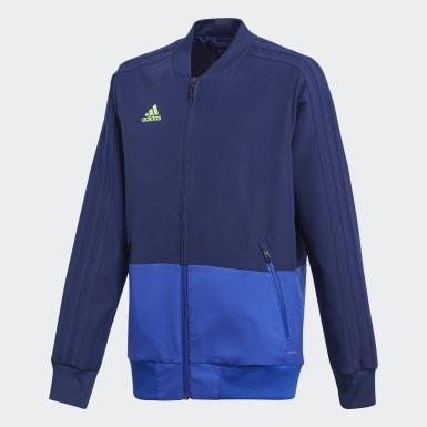 Børn Træning Blå Condivo 18 opvarmningsjakke