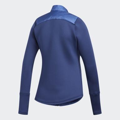 Women Golf Blue Hybrid Quilted Jacket