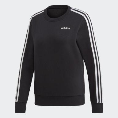 Sweat-shirt Essentials3-Stripes noir Femmes Essentials