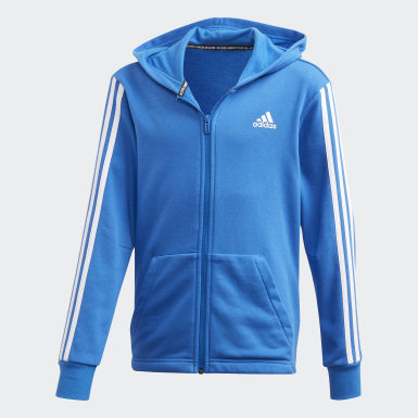 Boys Training Blue Must Haves 3-Stripes Jacket