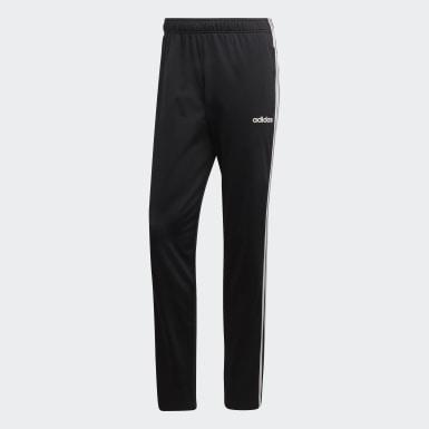 Pantaloni Essentials 3-Stripes Tapered Nero Uomo Training