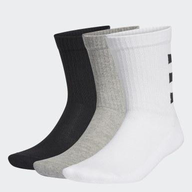 Training White 3-Stripes Half-Cushioned Crew Socks 3 Pairs