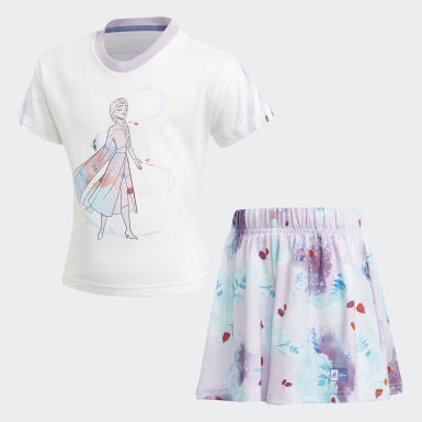 Girls Training White Frozen Summer Set