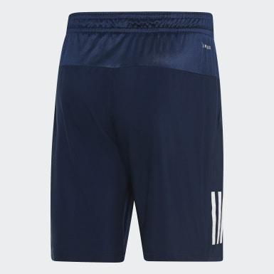 Men Tennis Blue Club 3-Stripes 9-Inch Shorts