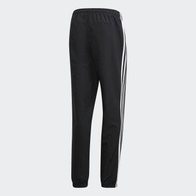 Mænd Træning Sort Essentials 3-Stripes Wind bukser