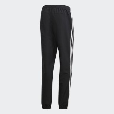 Men's Essentials Black Essentials 3-Stripes Wind Pants