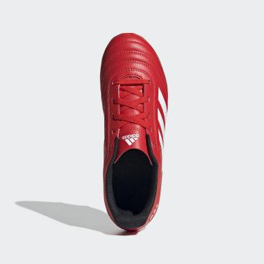 Botines Copa 20.4 Terreno Firme Rojo Niño Fútbol