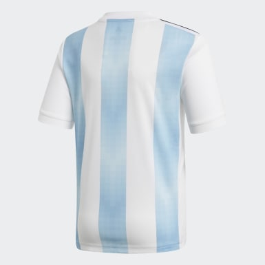 Jersey Argentina Home Replica Blanco Niño Fútbol