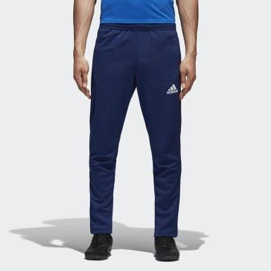 Heren Voetbal Blauw Tiro17 Sportbroek