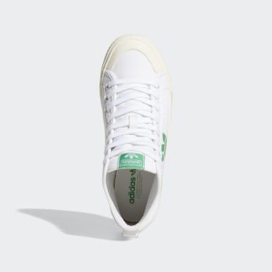 Frauen Originals Nizza Trefoil Hi Schuh Weiß