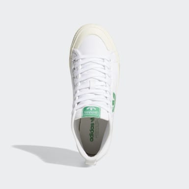 Women Originals White NIzza Trefoil Hi Shoes