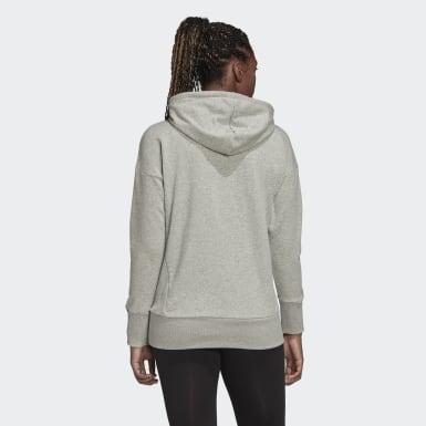 Áo hoodie huy hiệu thể thao dáng dài