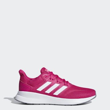 Tenis Runfalcon Rosa Mujer Caminar