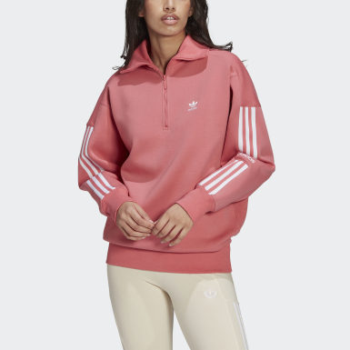 Felpa LOUNGEWEAR Half-Zip Rosa Donna Originals