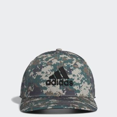 Men Golf Green Tour Camo-Print Hat