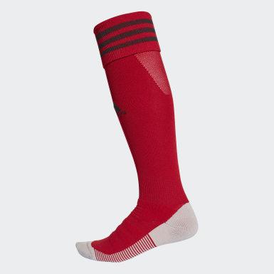 Fotbal červená Štulpny AdiSocks