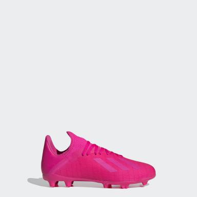 Chlapci Futbal ružová Kopačky X 19.3 Firm Ground
