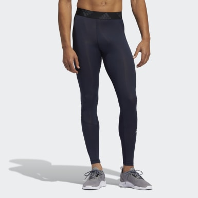 Men Training Blue Techfit Long Tights