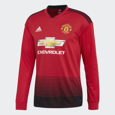 Men Football Red Manchester United Home Jersey