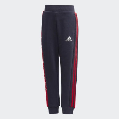 Kids 4-8 Years Training Blue Knit Joggers