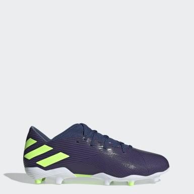 Chaussure Nemeziz Messi 19.3 Terrain souple bleu Soccer