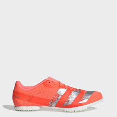 Sapatos de Bicos Meio-Fundo Adizero Laranja Atletismo