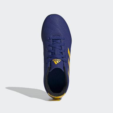 Botines Goletto VII Pasto Sintético Azul Niño Fútbol