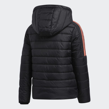 Girls Hiking Black Classic Puffer Jacket