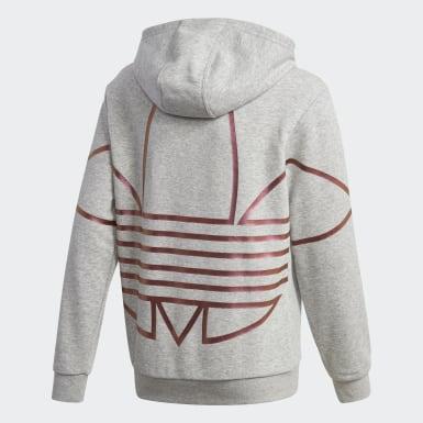 Sweat-shirt à capuche Large Logo Gris Enfants Originals