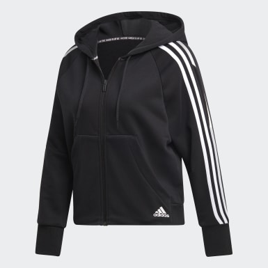 Women Athletics Black Must Haves 3-Stripes French Terry Hoodie