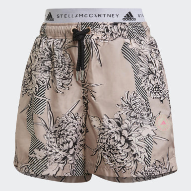 Women adidas by Stella McCartney Pink adidas by Stella McCartney FuturePlayground Printed Shorts