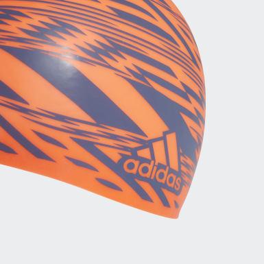 Tokyo Graphic Swim Cap Pomarańczowy