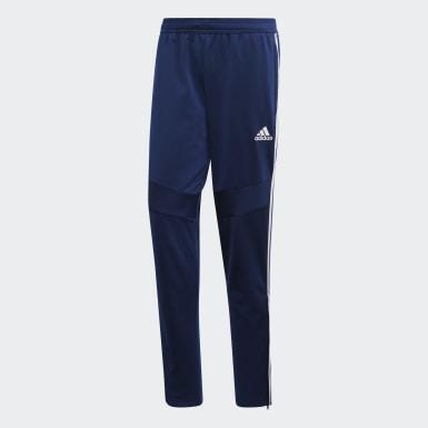 Mænd Træning Blå Tiro 19 Polyester træningsbukser