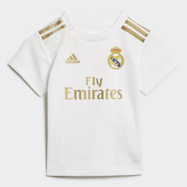 Kinderen Voetbal Wit Real Madrid Baby Thuistenue