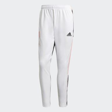 Men Soccer White Juventus Human Race Training Pants