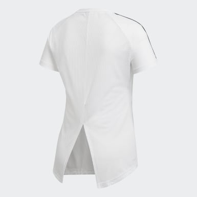 Playera Design 2 Move 3 Franjas Blanco Mujer Essentials