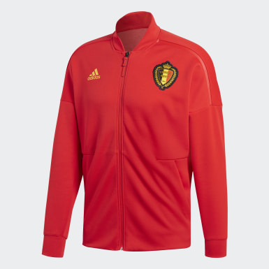 Mænd Fodbold Rød Belgium adidas Z.N.E. jakke