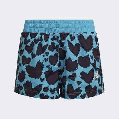 Pantalón corto AEROREADY Woven Azul Niña Estudio
