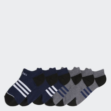 Children Training Multicolor 3-Stripes No-Show Socks 6 Pairs