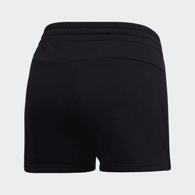 Pantalón corto Essentials Linear Logo Negro Mujer Athletics
