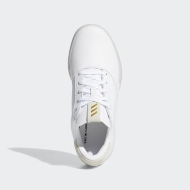 Youth Golf White Adicross Retro Shoes
