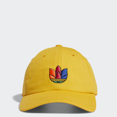 Men's Originals Yellow 3D Trefoil Strap-Back Hat