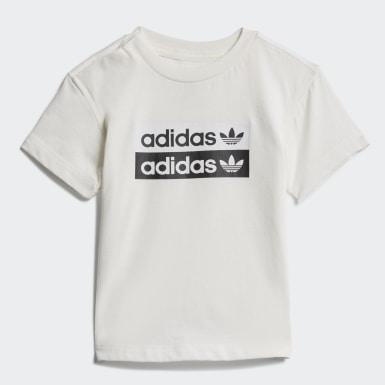 Kinderen Originals Wit R.Y.V. Short en T-shirt Set