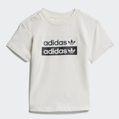 Kids Originals White R.Y.V. Shorts and Tee Set