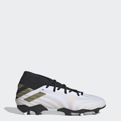 Men's Soccer White Nemeziz .3 Firm Ground Cleats