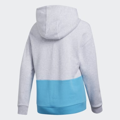 Youth Training Grey Colorblock Hoodie