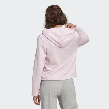 Women's Essentials Pink adidas Essentials Camouflage Logo Hoodie