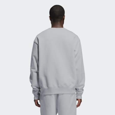 Originals Grey Pharrell Williams Basics Crew Sweatshirt (Gender Neutral)