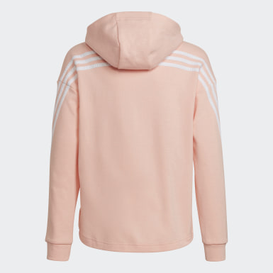 Felpa con cappuccio 3-Stripes Full-Zip Rosa Ragazza Training